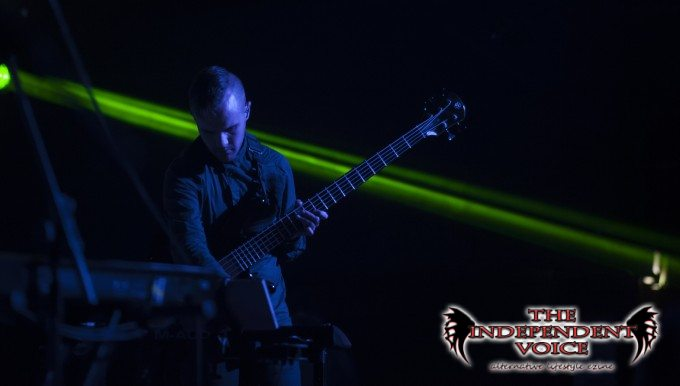 Dan flicks easily between bass and synth