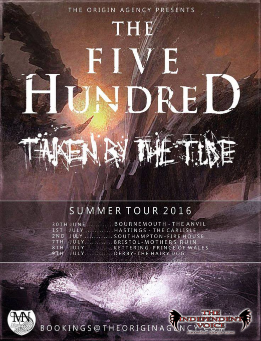 The Five Hundred on tour with Taken By the Tide