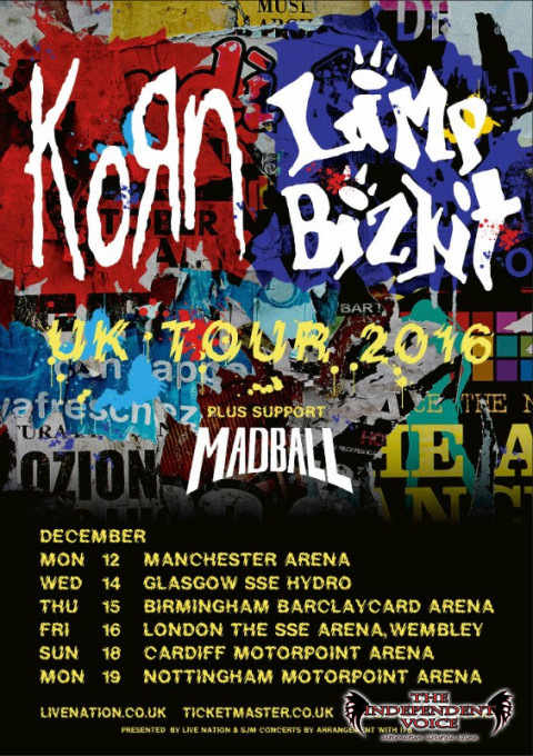 Madball to support Korn and Limp Bizkit
