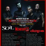 STATIC-X, SOiL, DOPE & WEDNESDAY 13 ABOUT TO EMBARK ON UK/EUROPE LEG OF WISCONSIN DEATH TRIP 20TH ANNIVERSARY TOUR!